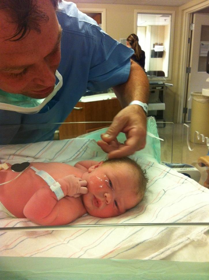 Lyla Gerten with her dad, Scott.